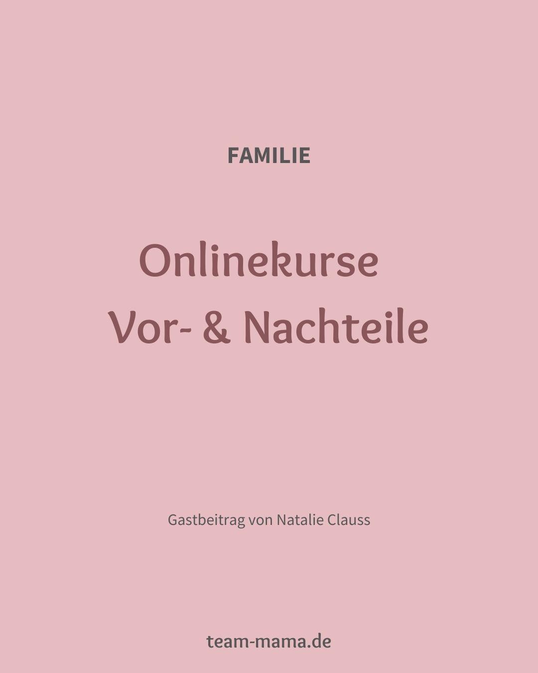 Onlinekurse – Vor- & Nachteile